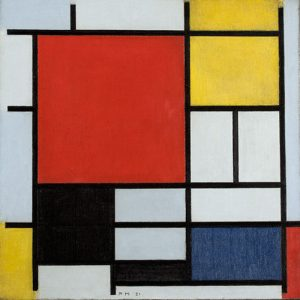 Composition with Large Red Plane, Yellow, Black,Gray and Blue (1921)