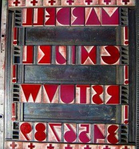 woodblock font