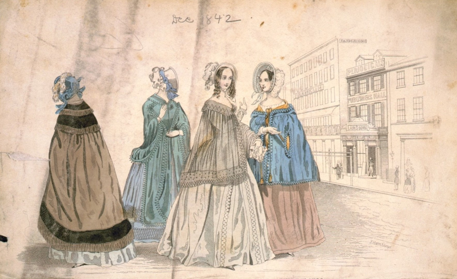 Image 2. 21 of the ladies' book improved fashion plates, F. Humphreys, 1842.