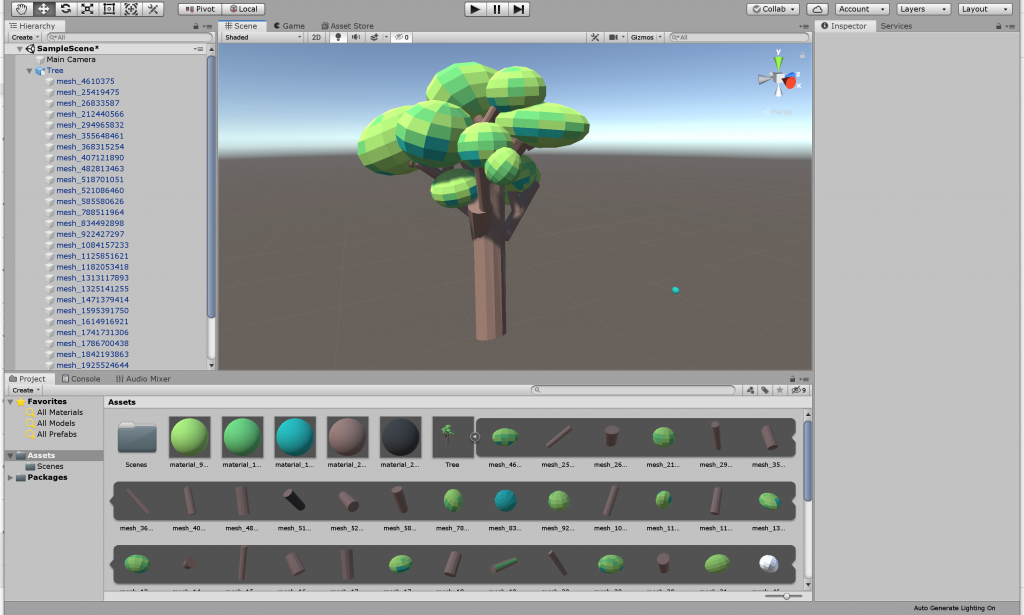 Google Blocks Tree in Unity