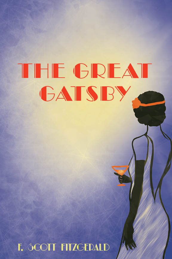 'The Great Gatsby', F. Scott Fitzgerald (1925), book cover redesign.