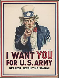 James Montgomery Flagg, I Want You For U.S. Army, 1917