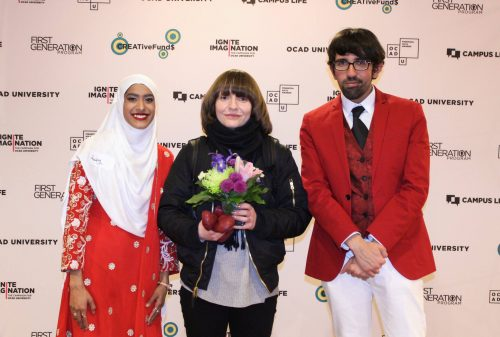 Rabeea Syed, Agata Mrozowski and Ali Al-Awadhi at a previous Student Recognition dinner.