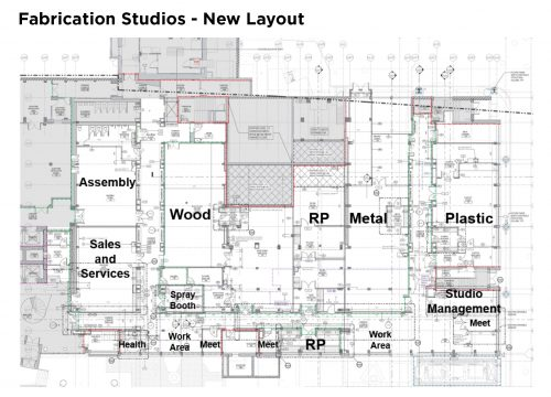 New layout - Fabrication Studios