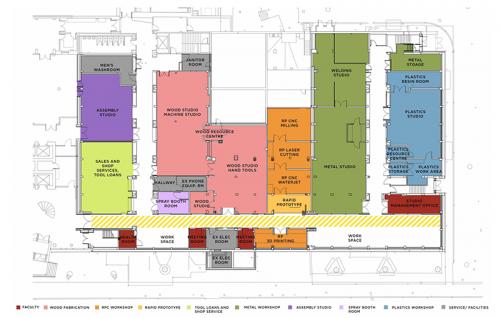 Fabrication Studios - future layout