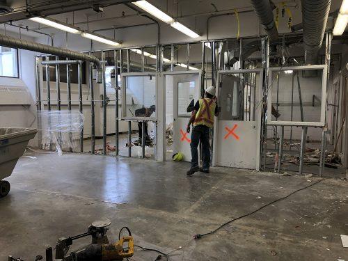 Plastics studio demolition