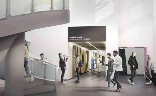 Concept sketch: new Fabrication Centre