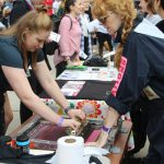 Screen printing at our Community Fair