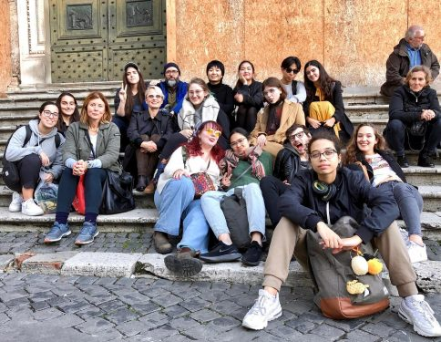 Faculty of Art Florence Program students in Rome.