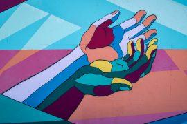 mural of hands