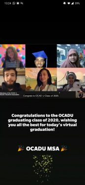 A message from the OCAD U MSA to the class of 2020