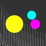 Cyan, Magenta, and Yellow Audio Visualization