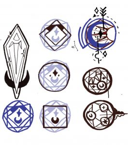 Unused Tattoo Design Iterations