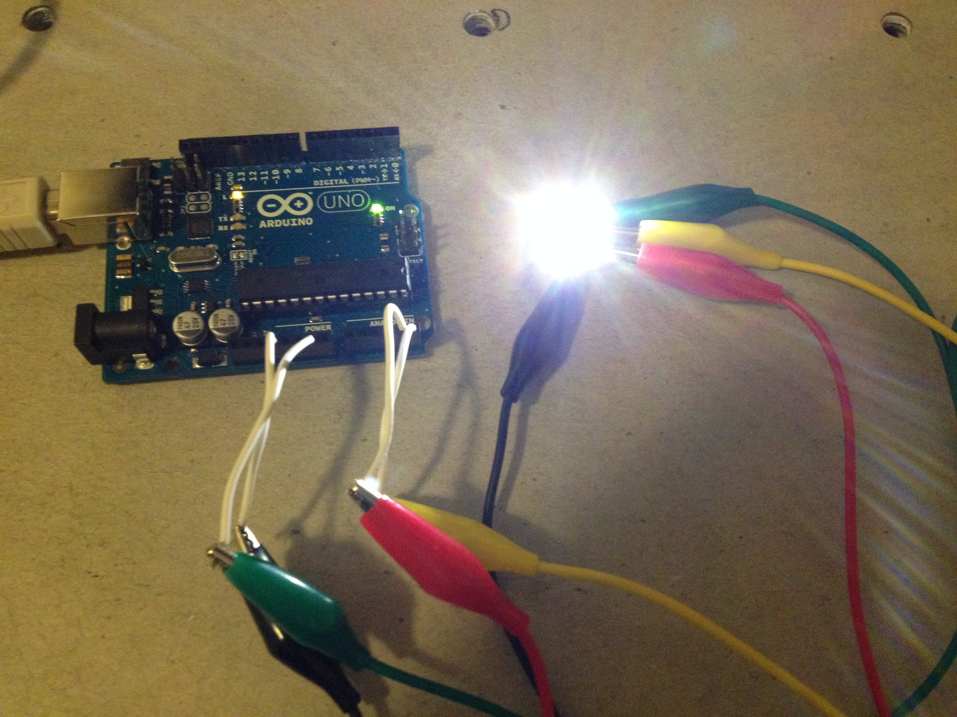 Physical Computing Arduino Colour Sensor Circuit If The Game Had Different Tones A Better Calibrating And Mapping System Would Have To Be Done So Wouldnt Make Any Mistakes