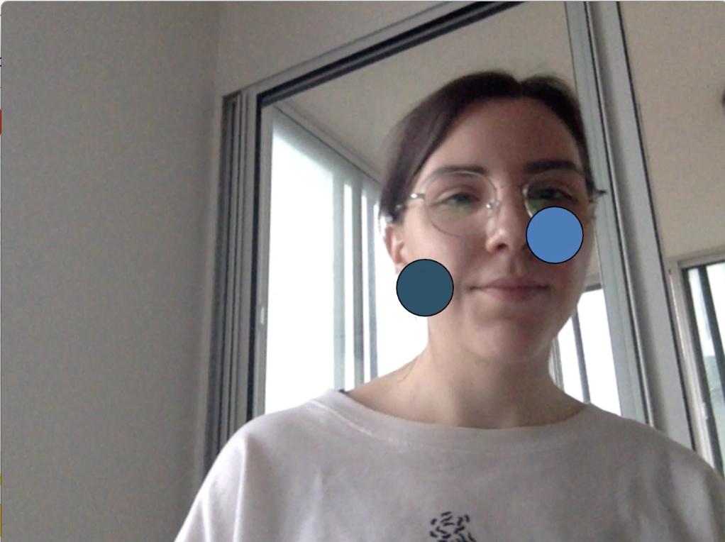 Nose tracking using PoseNet and PubNub