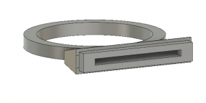 Figure 3: Salt Ring model in development; this image shows the hallowed out insides of the ring.