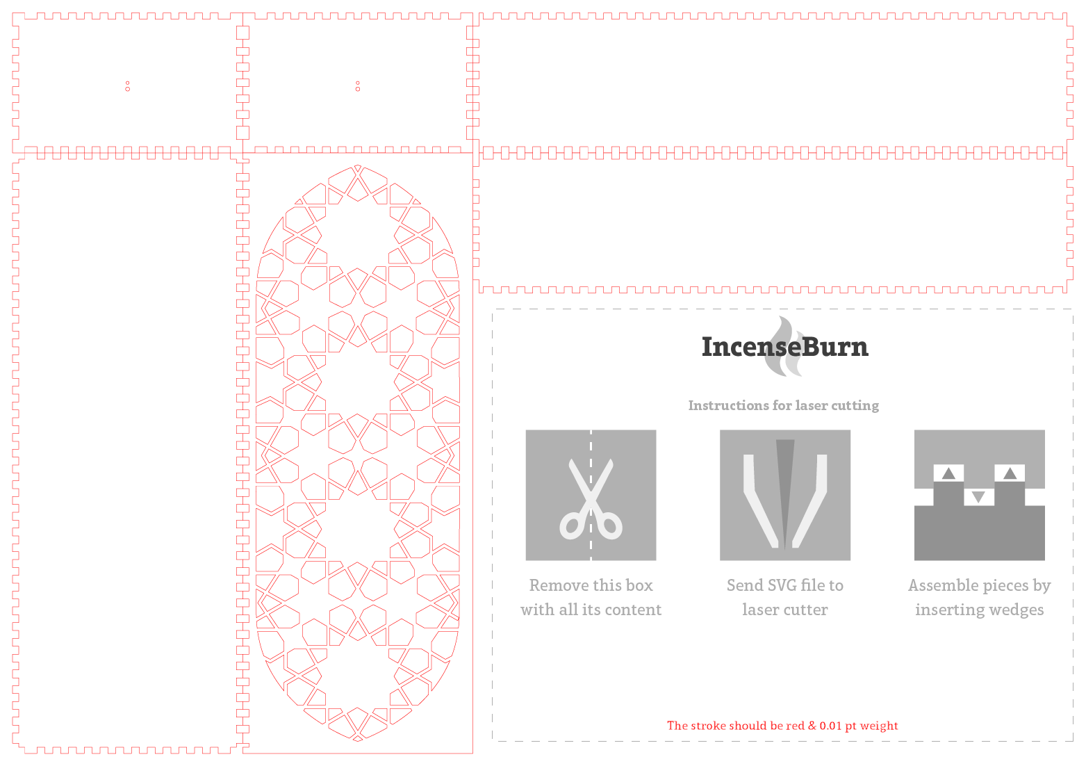 This will be the downloadable file which the user will be able to modify & send to the laser cut machine