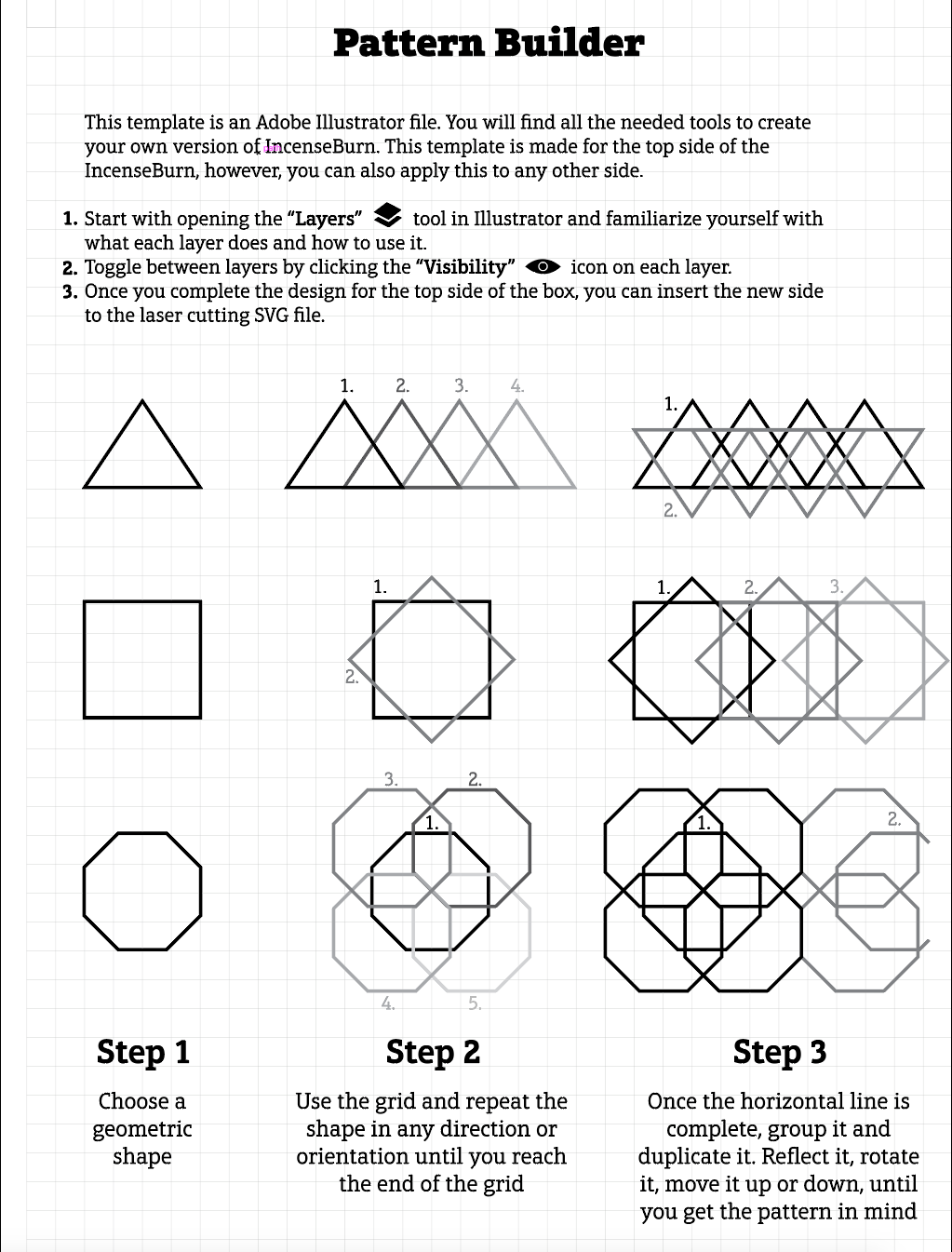 Pattern Builder - Instructions A