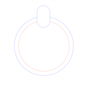 Rounded rectangle placed on top of ellipse.