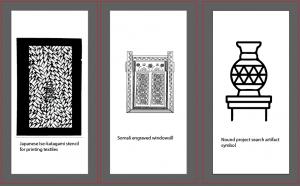 Japanse Textile Stencil , Engraving