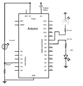 Photocell_LED_Speaker Circuit