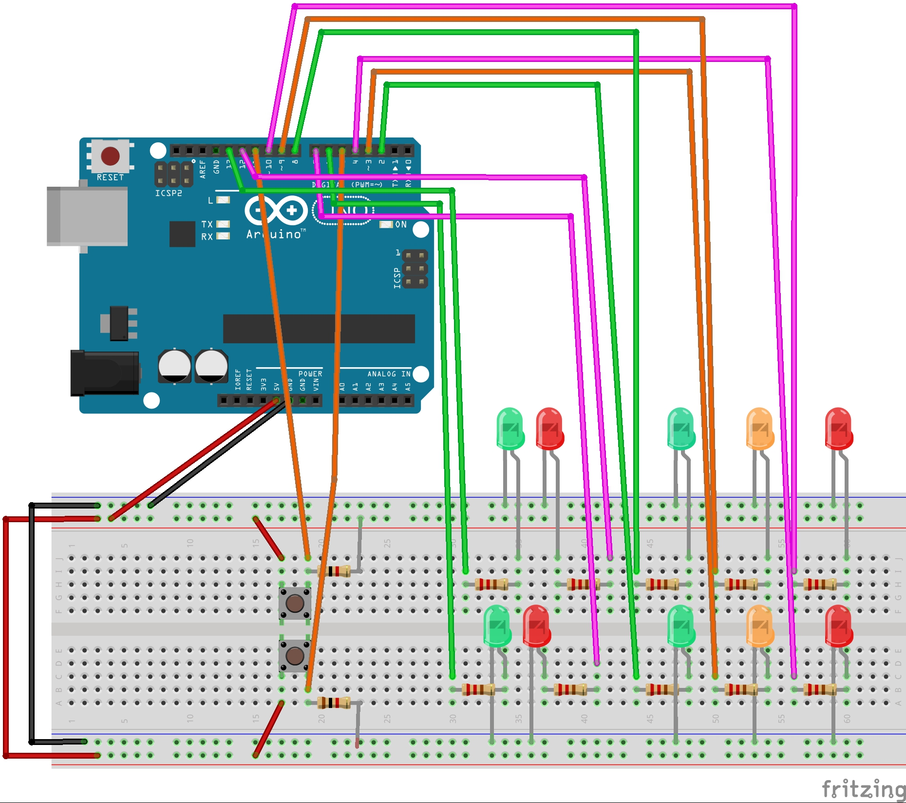 Daily Devices Creation Computation Fw2015 Page 2 Traffic Light Breadboard Diagram Schematic Stoplight