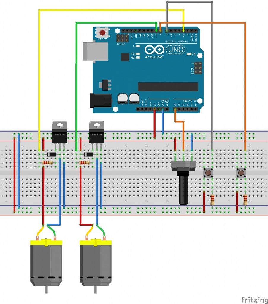 DC Car Arduino Circuit