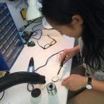 Soldering neopixel rings