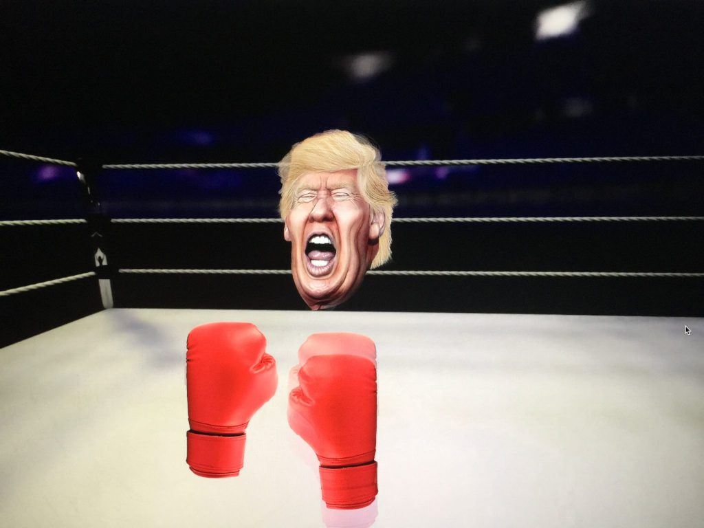 Final version with Trump reaction upon being hit by the right hand boxing glove.