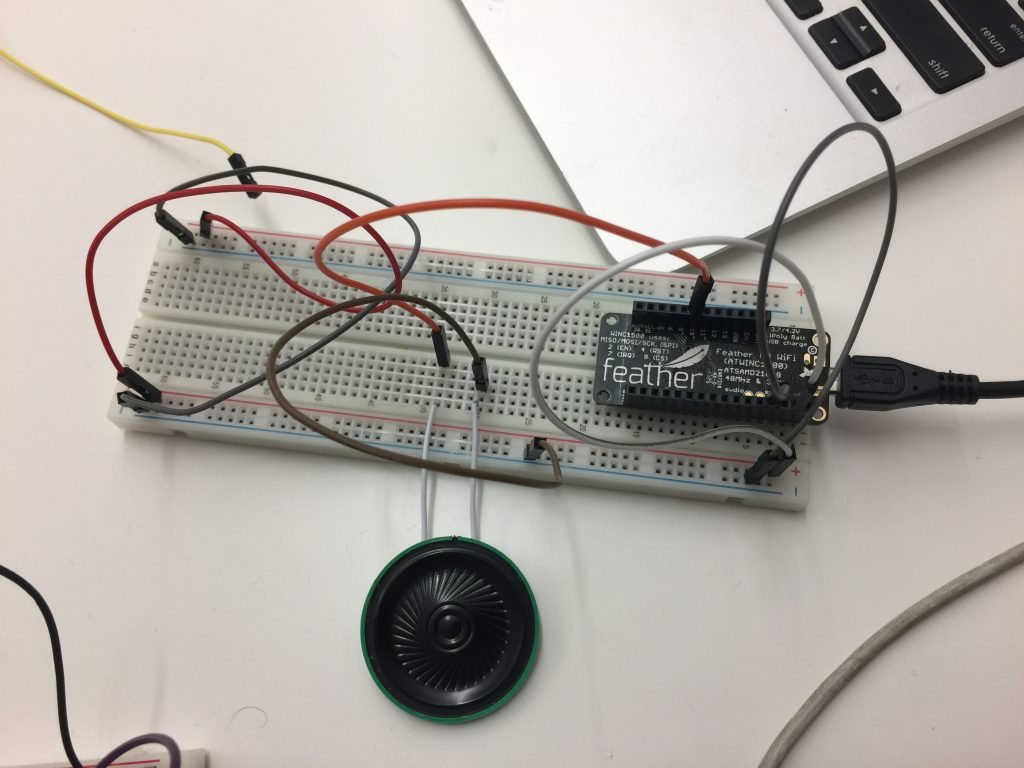 Testing with piezo speaker