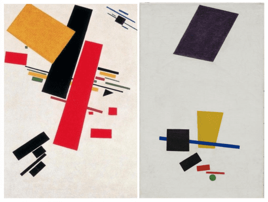 Russian Suprematist Paintings by Kashmir Malevich
