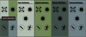 Sample app layouts for a 100% technology based game. This was the precursor to hiding physical caches.