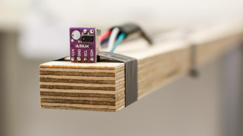 VL53L0X laser distance sensor in the final setup