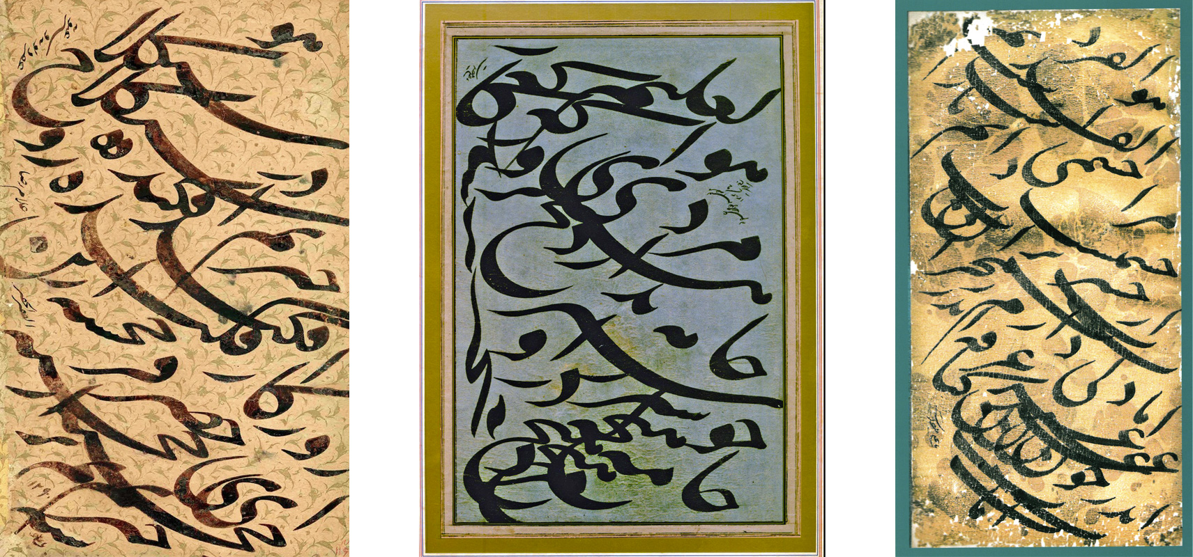Calligraphy pieces by Mirza Gholamreza Isfahani