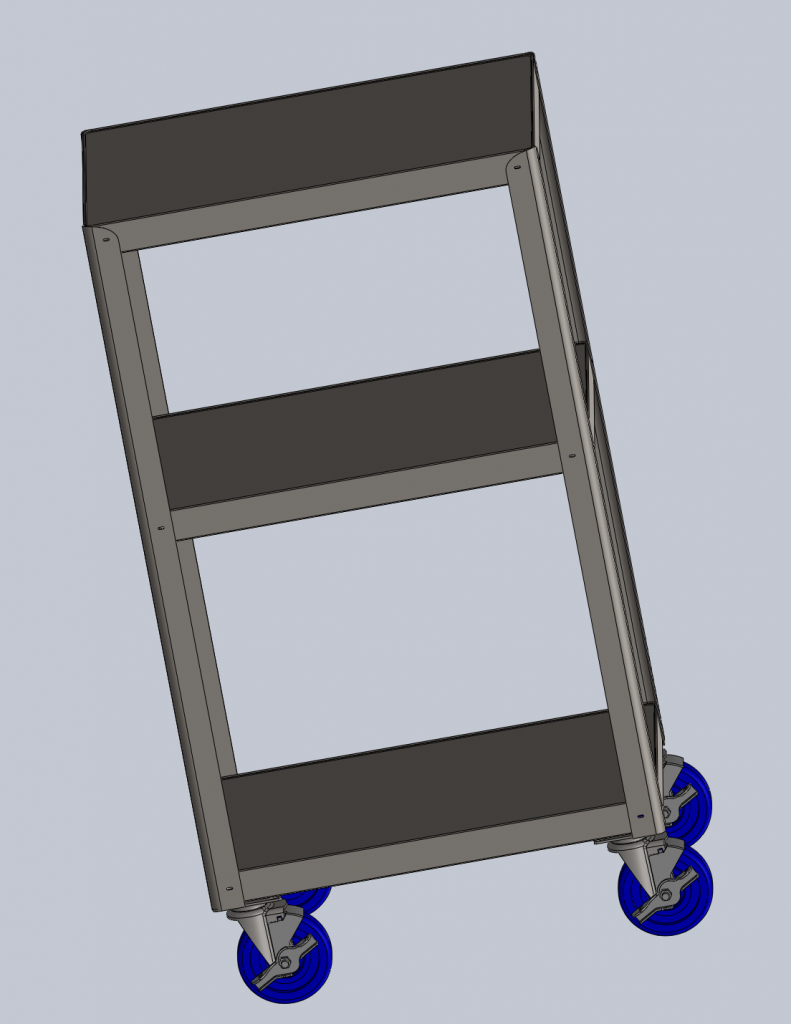 Work in Progress: CAD created to generate dimensions for the pegboard.