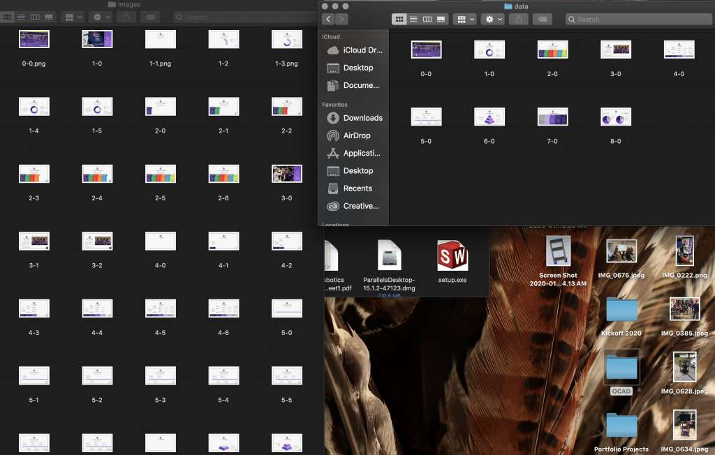Work in Progress: (Left) Image organization used in Digi-Cart 1.0 vs (Right) Image organization used in Digi-Cart 2.0
