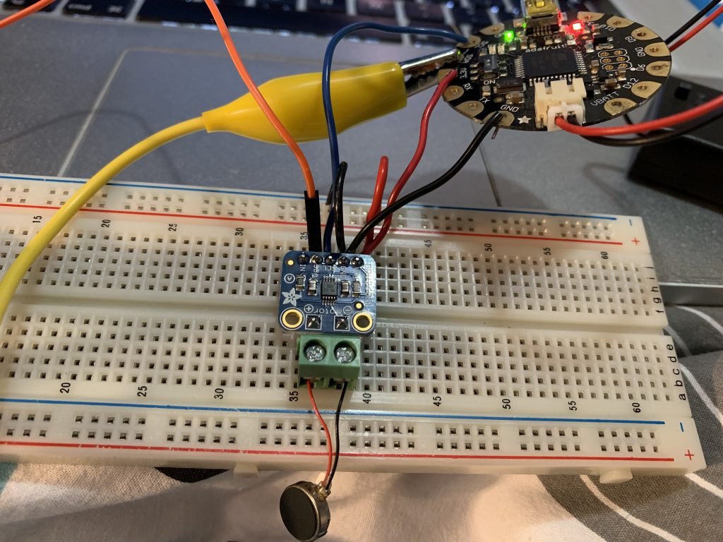 Figure 3. Breadboard setup with the Adafruit Flora