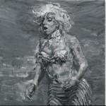 """Yan Pei-Ming, """"Lady Gaga"""", 2012, oil on canvas, 280 x 280 cm"""