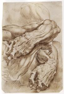 A study of hands from Rubens. Note the extraordinary application of hatching that describes form.