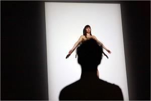 A performer in Marina Abramovic show, MoMA, NY