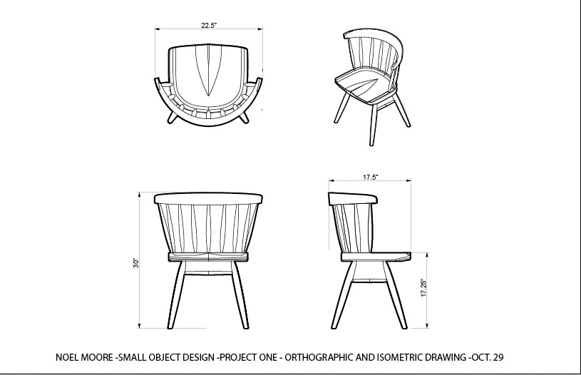Noel Moore Nakashima Straight Back Chair Project 1