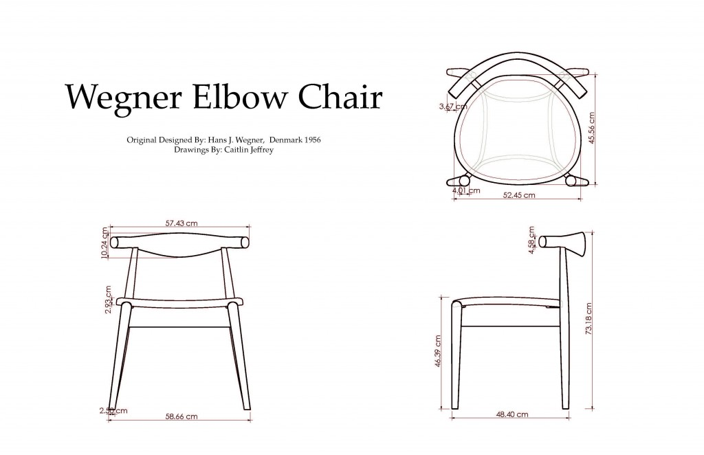 Wegner Elbow Chair Small Object Design Virtual To