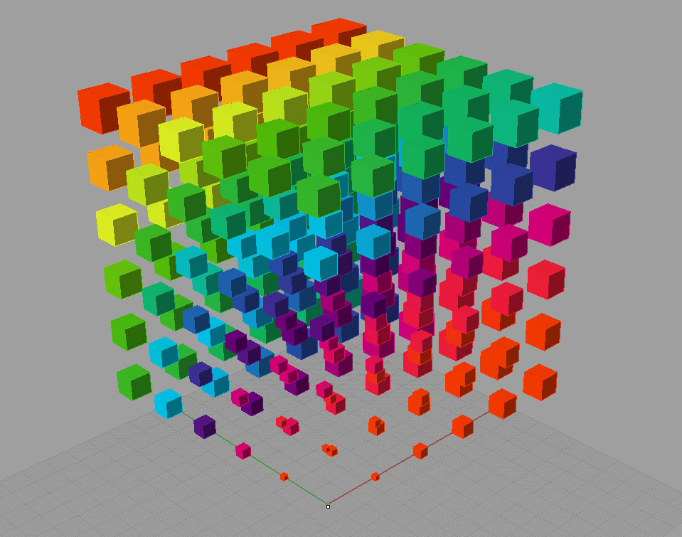 Demo: Gradient applied to a grid of boxes | Small Object