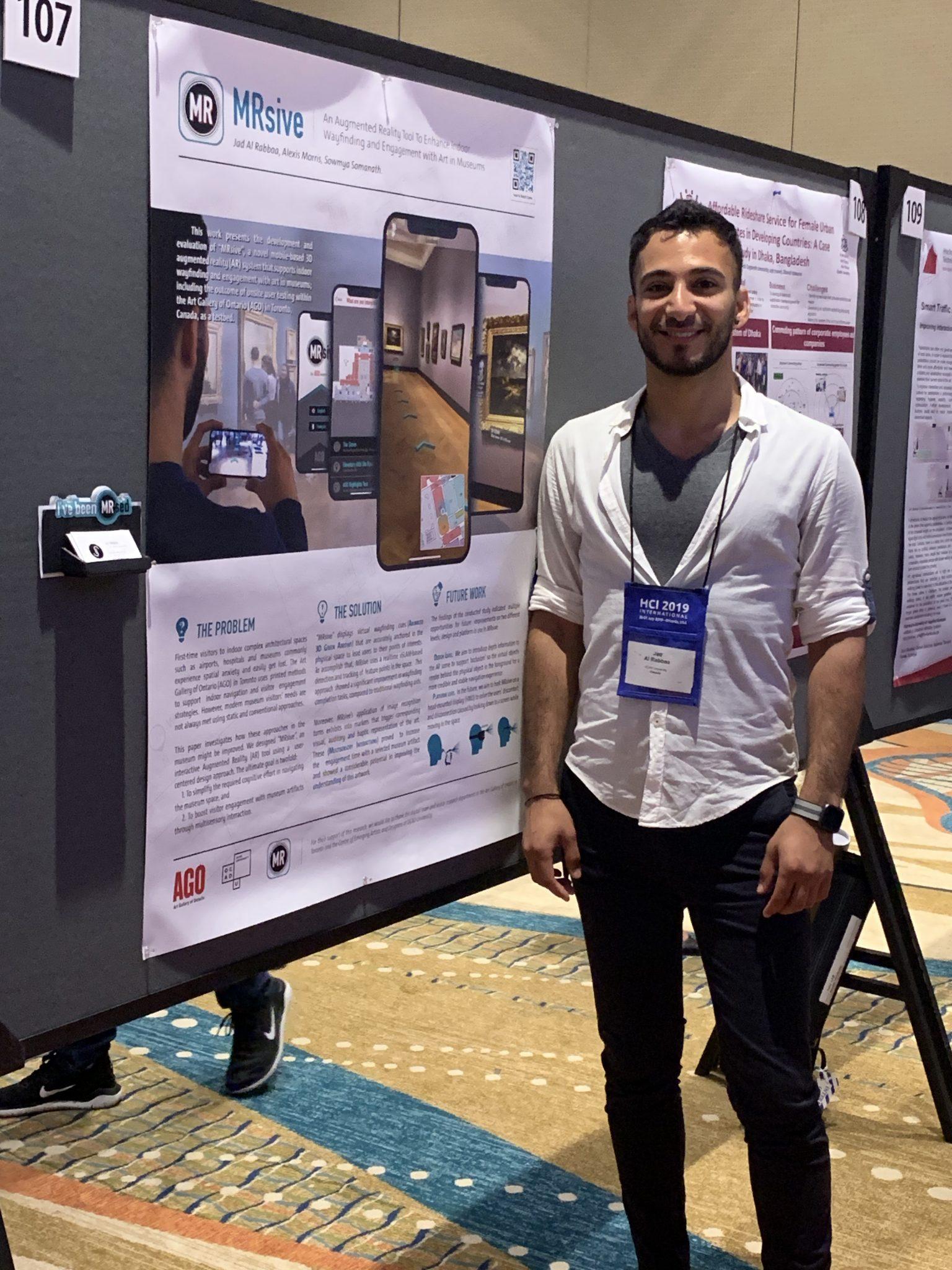 """Jad Al Rabbaa (Digital Futures, MDes 2019) Presents his research project, """"MRsive"""" at HCII 2019"""