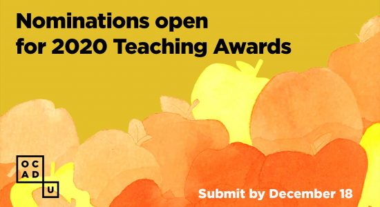 Reminder! Nominations for Teaching Awards are due by December 18.