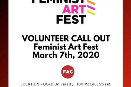 Volunteers needed for Feminist Art Festival