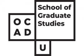 Black text on white background OCAD U School of Graduate Studies logo