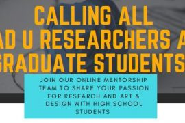 CALL OF MENTORS: Ontario On-Line Research Co-op for high school students --->Grad Blog:bit.ly/2sbr6eS