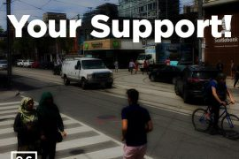 advocacy for traffic signals for safe crossing at Queen/McCaul/Duncan!