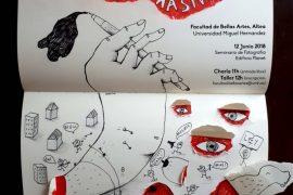 "IAMD student Coco Guzman presents talk & workshop at residency in Altea, Spain: ""Drawing as a weapon of mass creation"""